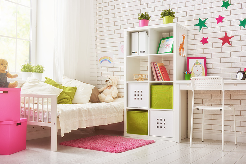 Diy kids room decor for your home with colourful star-shaped pin-ups