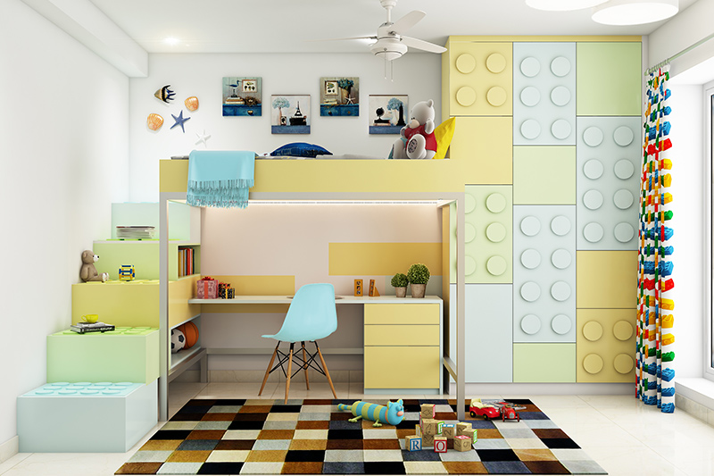 Kids room decorating ideas with stunning lego theme for beds, posters, and curtains for your kid's wall decor ideas