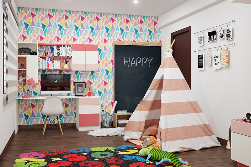 Kids room decor where wallpapers can truly enhance the vibe of your kid's bedroom