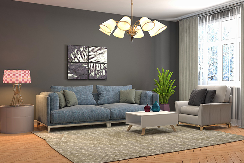 small living room lighting ideas with bunch lights are a unique design.