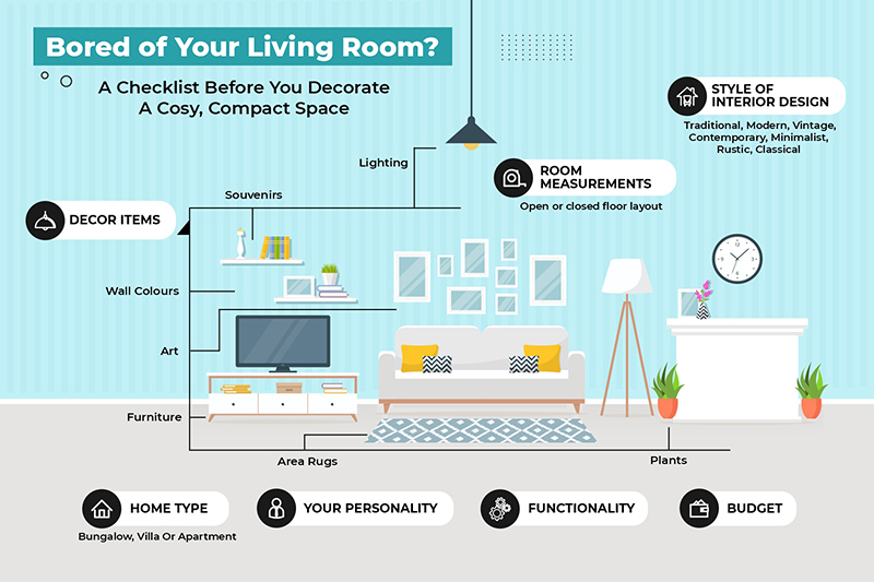 Bored of small living room interiors get inspired and revamp your space into a stylish and comfortable place.