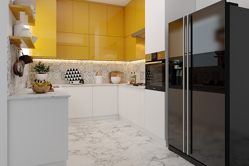 Difference between the modular and civil kitchen is the difference in functionalities