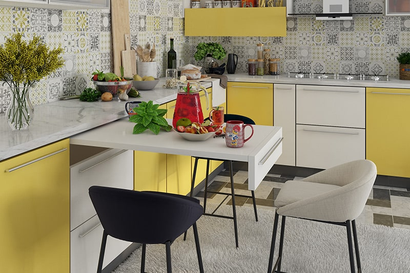 Modular kitchens are designed to your budget in case of civil kitchens budget is fluctuate