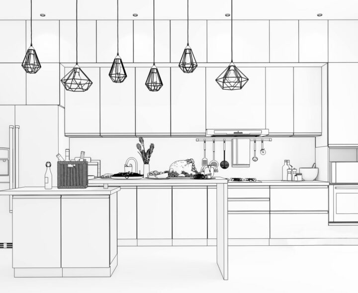 Difference between a modular and civil kitchen