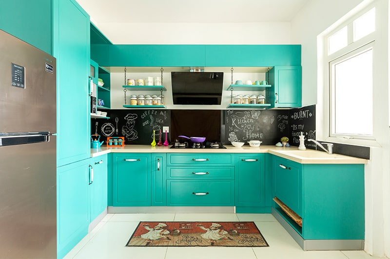 Modern eclectic style kitchen is also style of modular kitchen design and it looks elegant