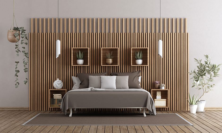 Wooden Wall Designs And Panels For Bedroom | Design Cafe