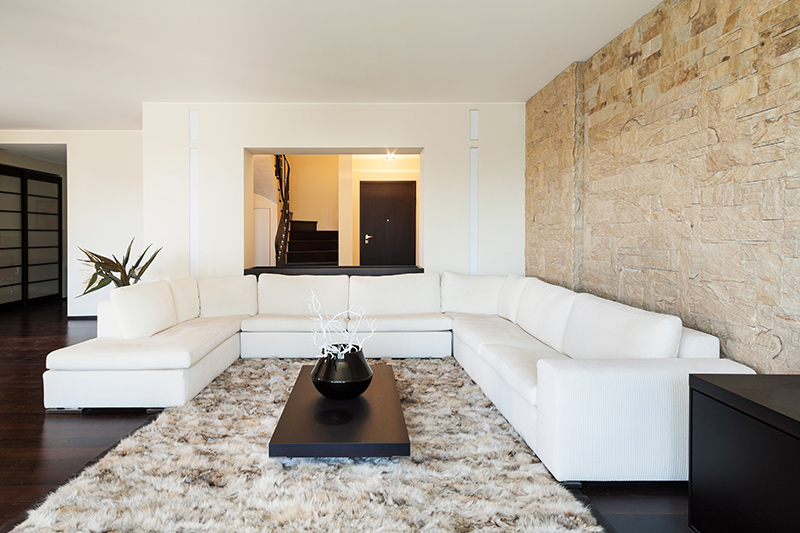 Charming stone wall texture designs for the living room is perfect for those who love the rustic style.