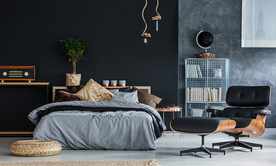 A colourful kids bedroom with grey walls is a smart play of colours with grey as the base