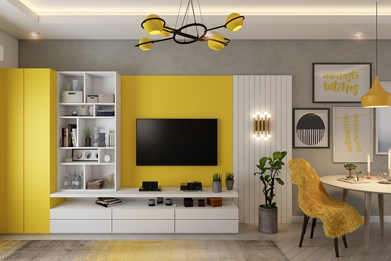 Living room colors with bright yellow easy to incorporate in living room interiors