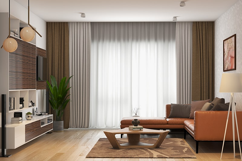 Living room color ideas by using rich browns for a traditional feel