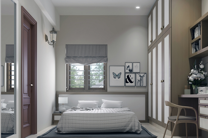 Light grey paint adds character to your space without being grey.
