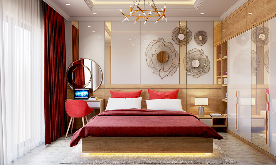 Lacquer glass for bedroom and wardrobes and tv units with high lustre and decadent look and feel