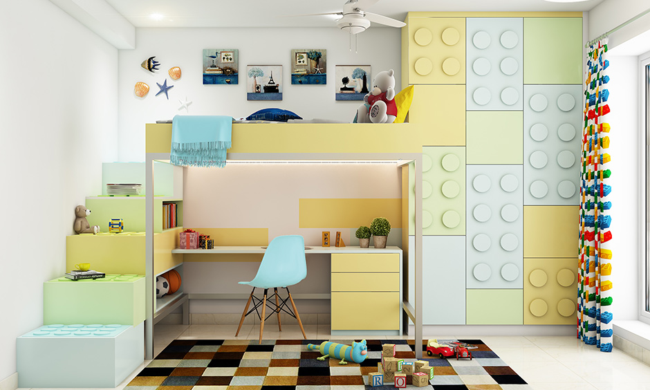 Lego-style kids storage organizer makes storage fun and hassle-free.