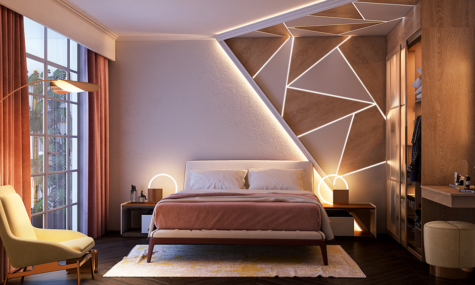 Brown wall paint for bedroom with a luxurious shade of brown to evoke relaxing vibes with neutral shade