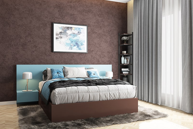 Master bedroom color schemes with blue and brown makes it impressive bedroom