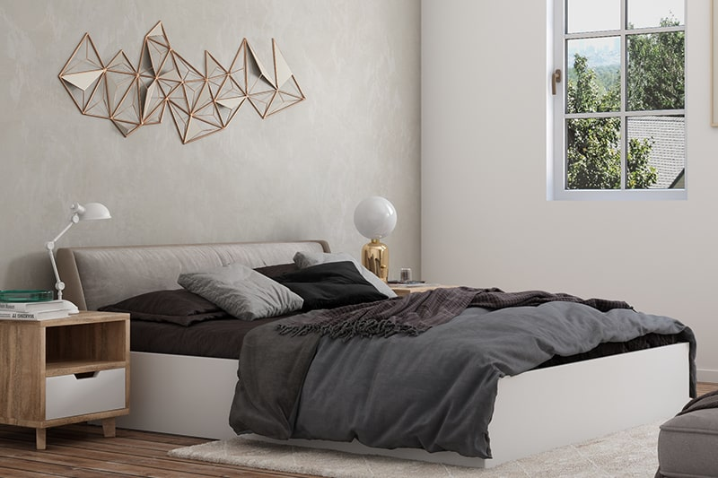 Bedroom color schemes with creams and white for a clean, fresh look in bedroom