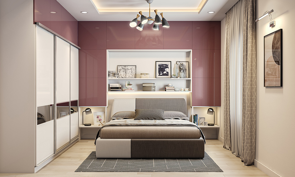 Modern accent wall design ideas for bedroom