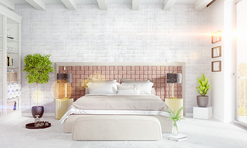 Bedroom accent wall colour combinations with brick walls fit right in any style of decor