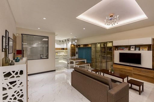 3 BHK model flat on display at interior design studio in hyderabad design cafe experience centre