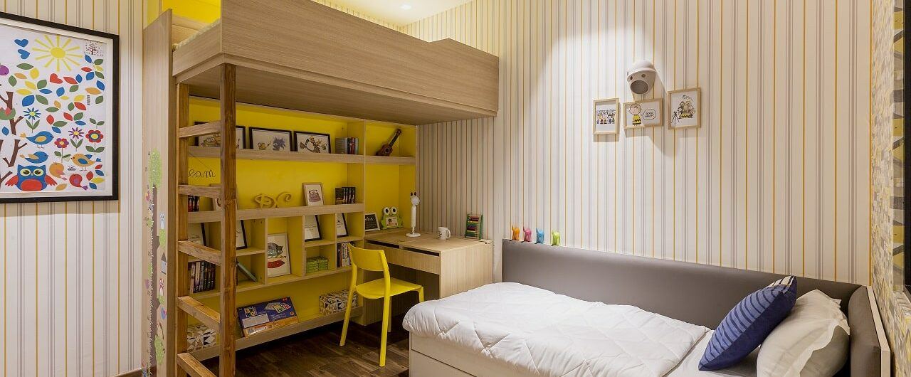Kids bedroom design concept at design cafe hyderabad experience centre.