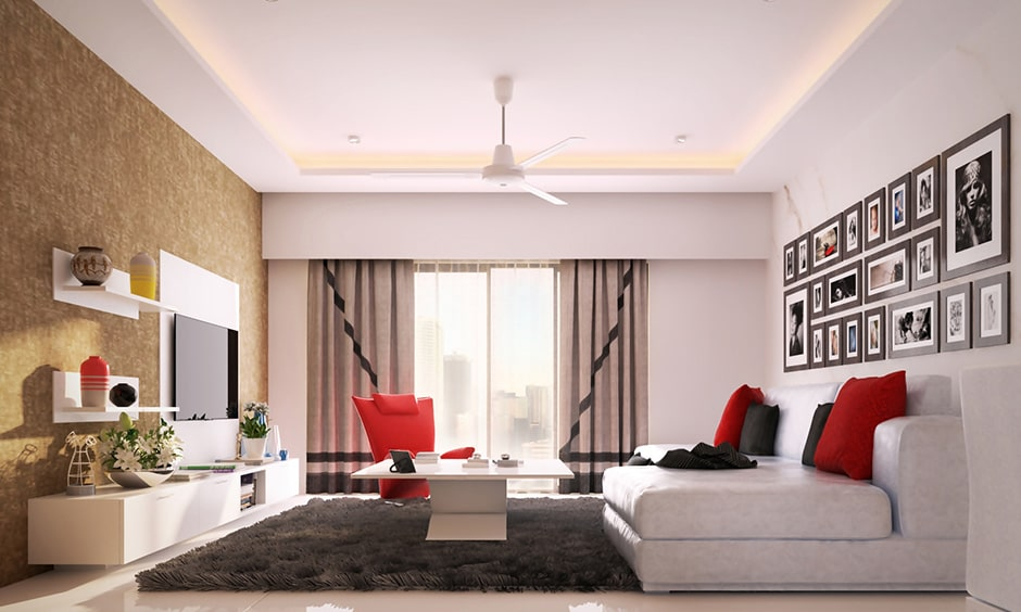 Floor carpets for living room with a neutral toned carpet and rugs