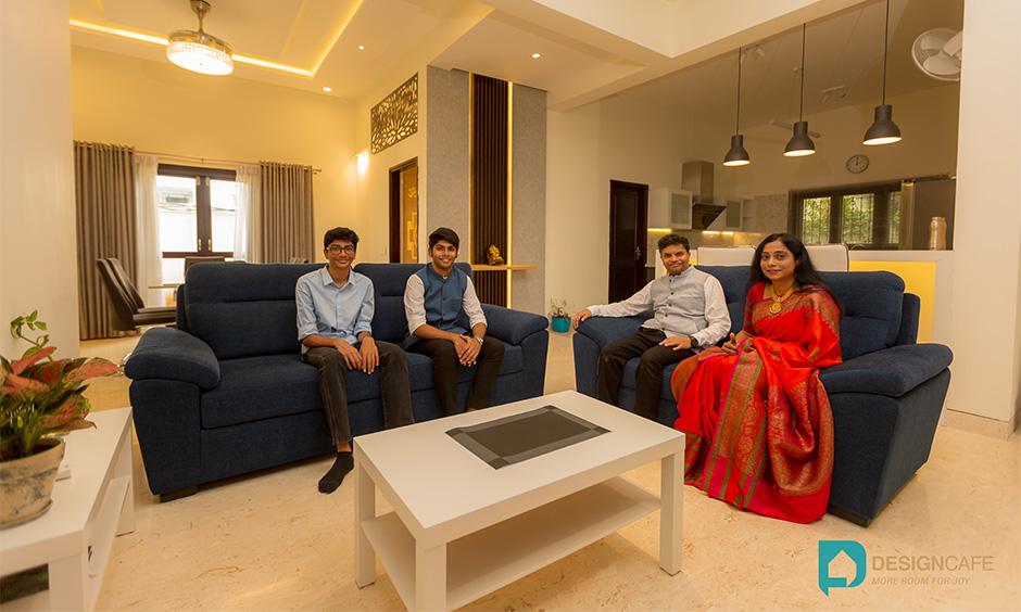 Villa interior design of a modern villa house in Adarsh Palm Retreat Villa Design Bangalore