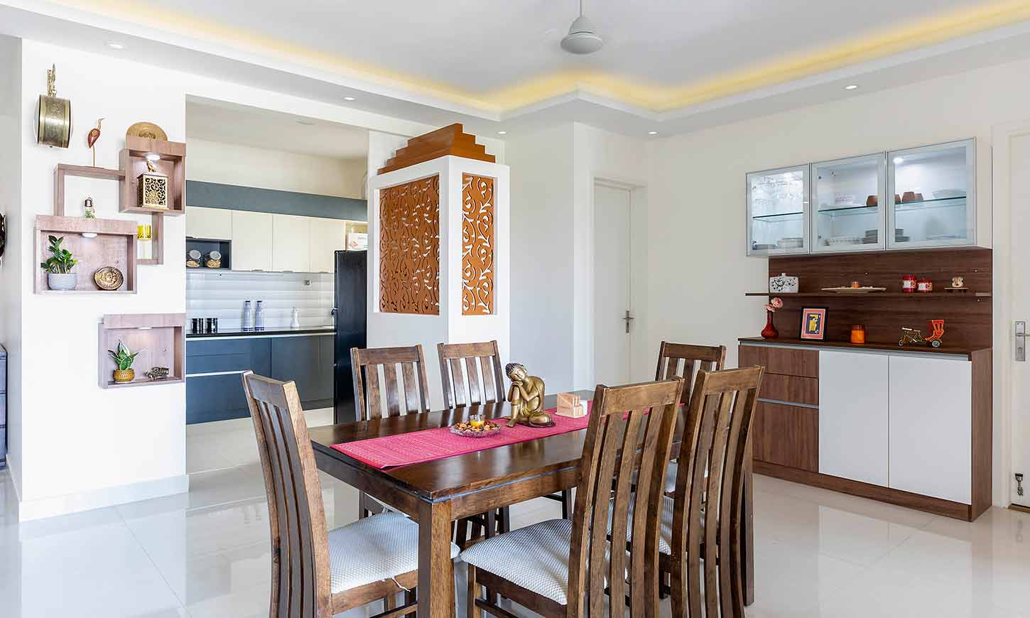 Dining room interior done by one of the best Interior designers in bangalore