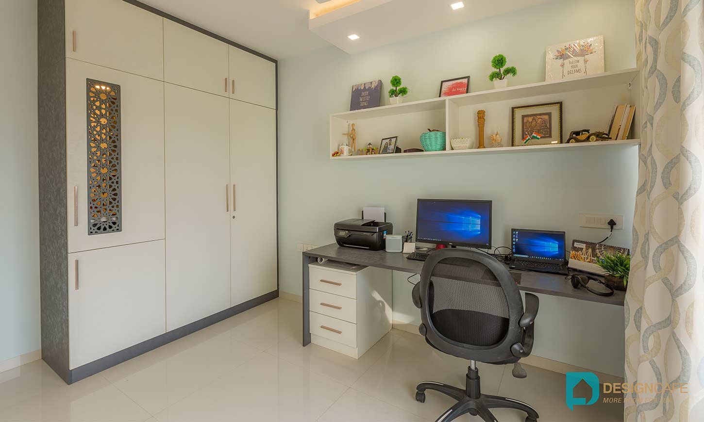 Study room designed by home interior designers in bangalore