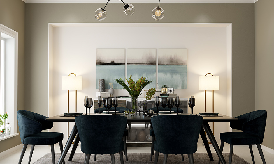 Glass bubbles are the most popular design in contemporary dining room light fixtures.