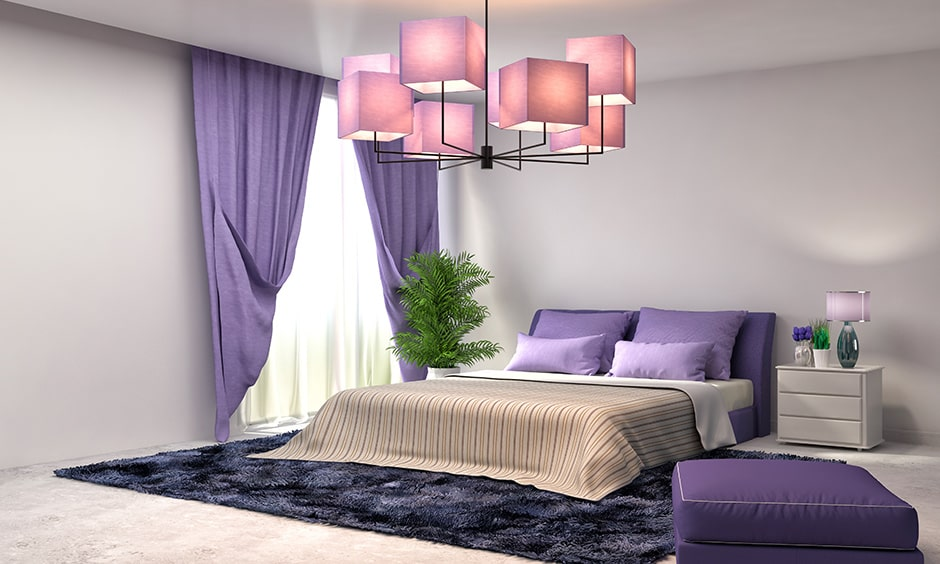 Purple bedroom colors used mostly in purple bedroom walls