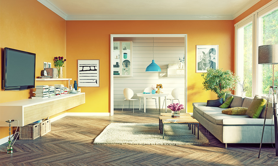 Beautiful yellow living room ideas