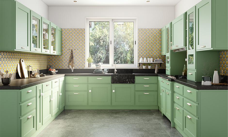 U-shaped kitchen design ideas for indian homes
