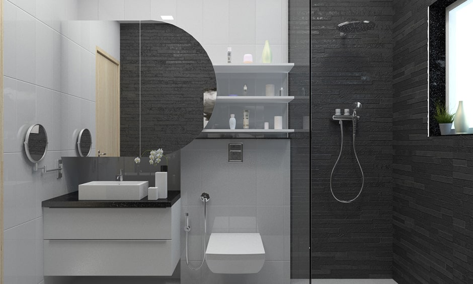 Bathroom mirror design with corner bathroom mirrors are perfect for creating a class bathroom