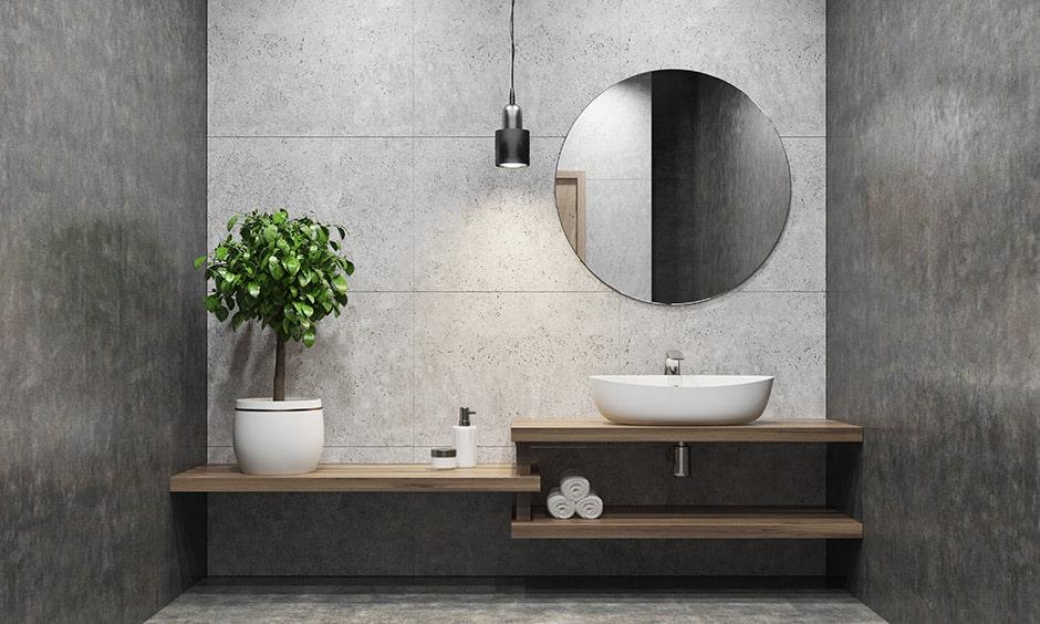 Bathroom mirror design ideas with a vertical mirror for your bathroom makes dynamism