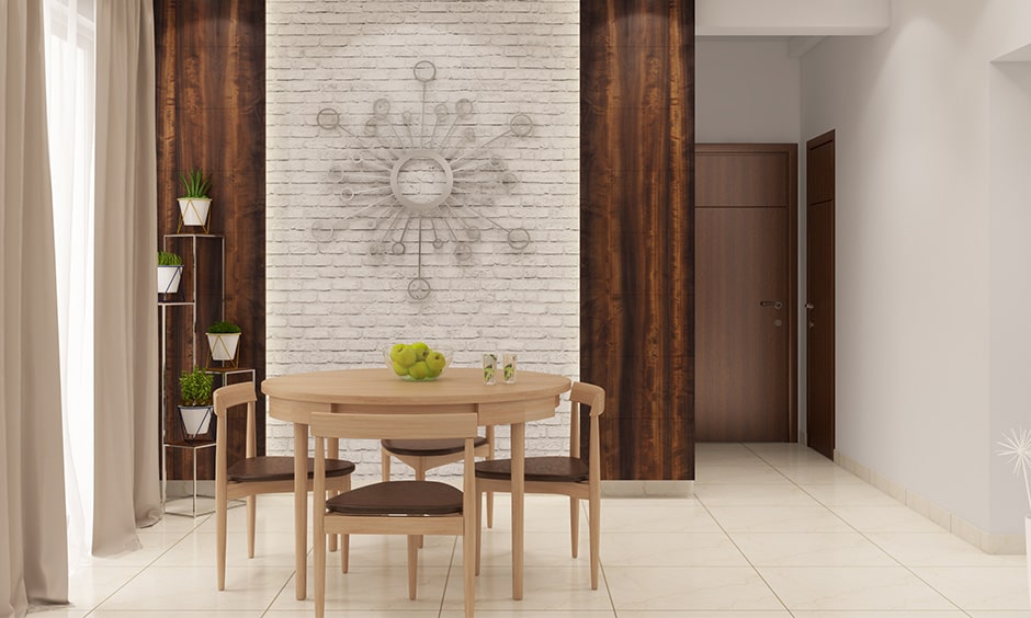 Round dining table in sleek and chic for modern indian homes