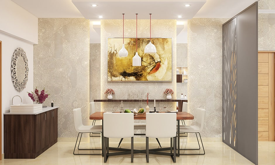 Dining room decor with wallpaper or wall paint to transform your dining room looks interesting space