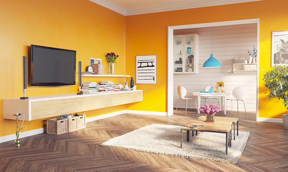 Yellow living room for your home
