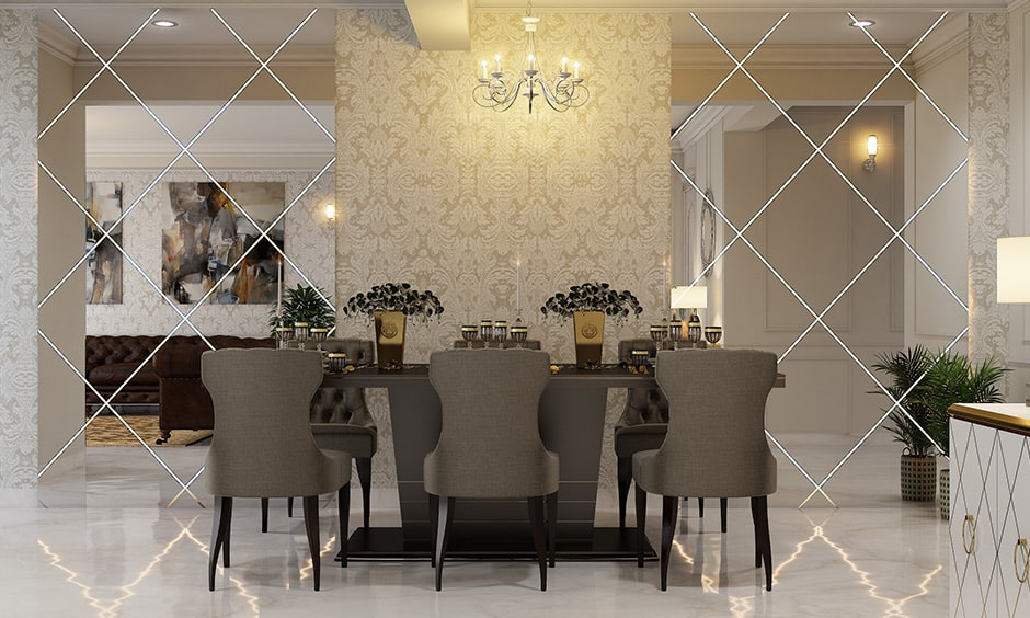 Best dining room wall decor ideas with mirrors