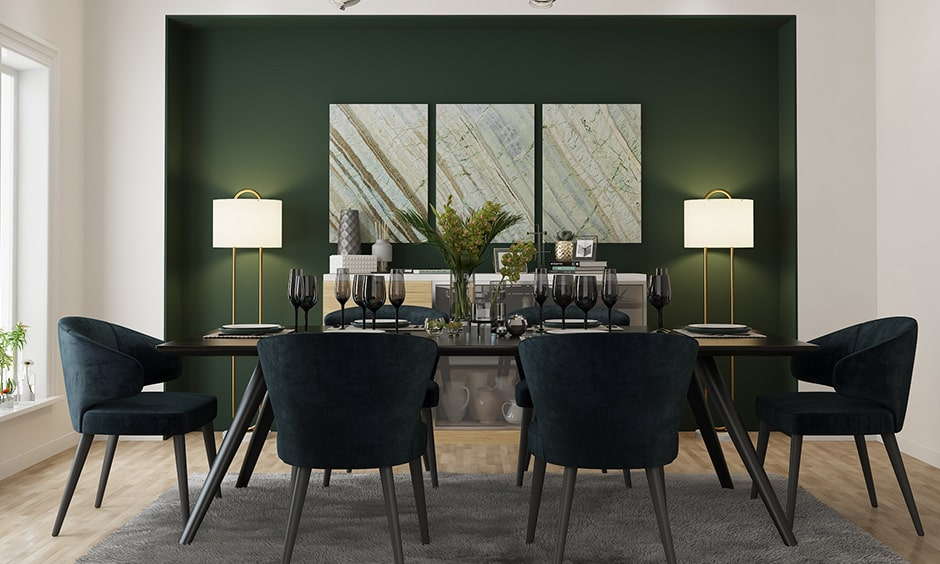 Modern dining room wall decor with elegant paintings for your dining room