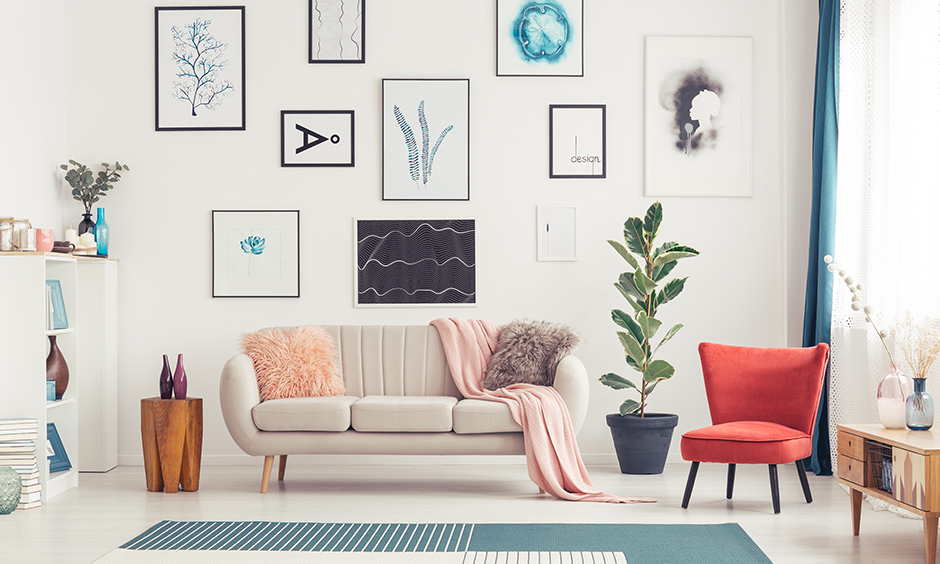 Modern living room accessories wall art perfectly works with modern decor plans like bold paintings or typography frames