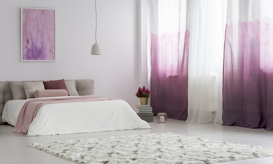 Lavender bedroom scent and curtains which is too much for your taste