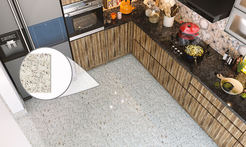 Granite flooring is a popular choice for kitchen flooring