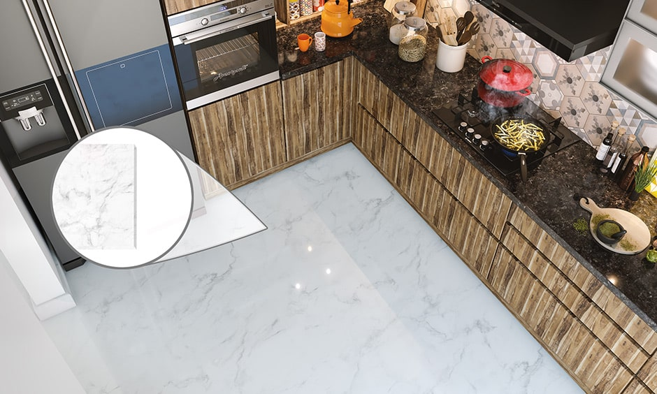 Marble flooring is a kind of kitchen flooring material
