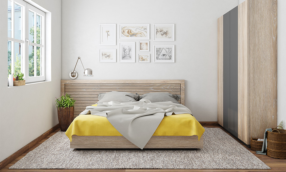 Simple jute bedroom rugs which helps to muffle noise as well as protect your floor from scratches