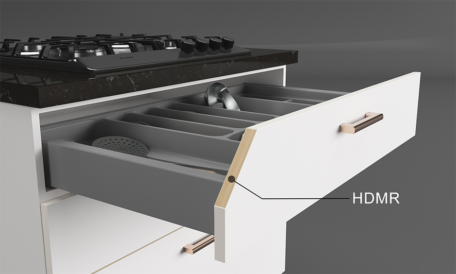 Hdhmr board for kitchen drawers