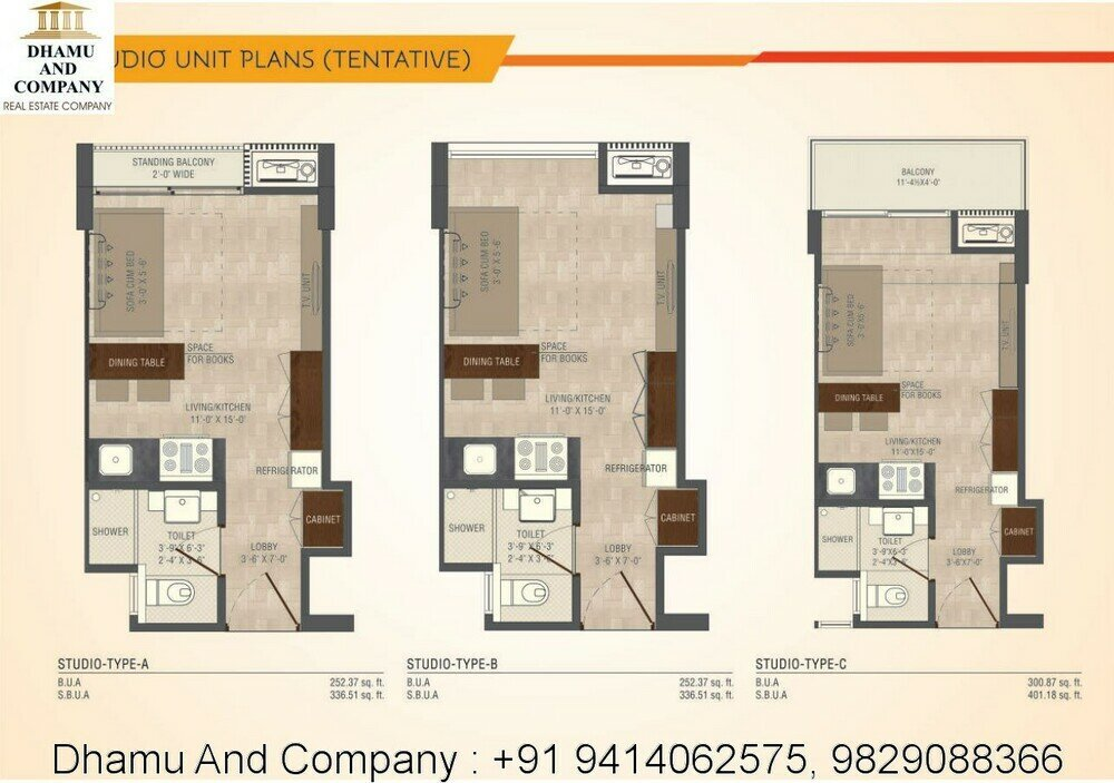 Funished apartment for sell jaipur studio 1bhk 2bhk for Studio apartment blueprints