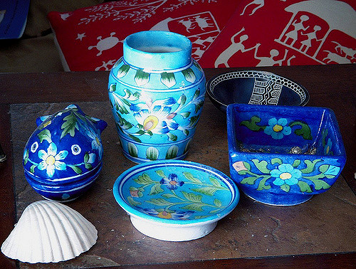Blue Pottery from Jaipur, Rajasthan