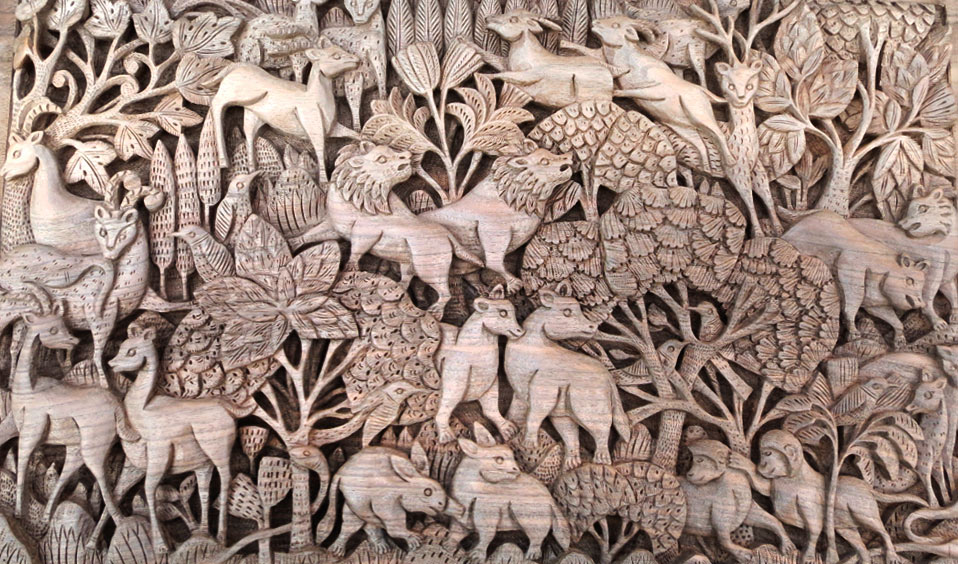 Walnut Wood Carving from Jammu and Kashmir