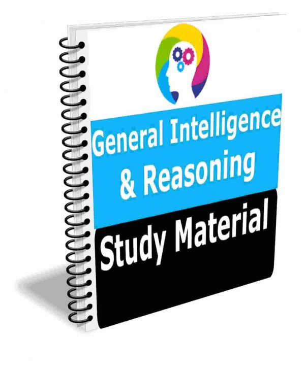 General Intelligence & Reasoning Study Material Book Best Notes