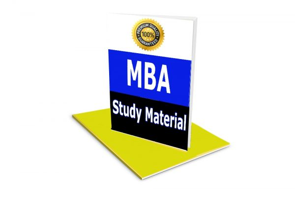 MBA Study Material, Book Notes Pdf